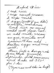 Alice's Baked Rice Recipe