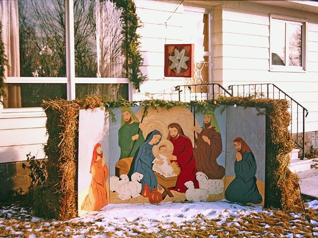Grandpa Kaseman always put this Christmas Card in his yard during December. It was painted by Lorraine Kaseman.